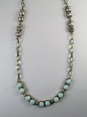 Mint Crystal Chain Stone Set