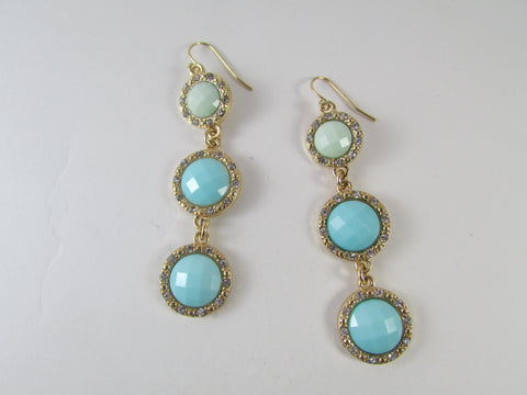 Pearl Earrings Blue/Mint