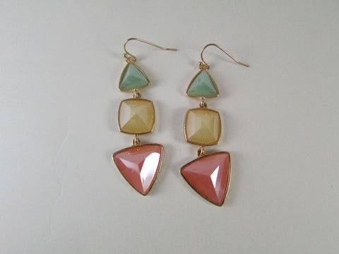 Peach Love Mint Earrings