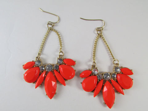 Indian Brave Earrings Red