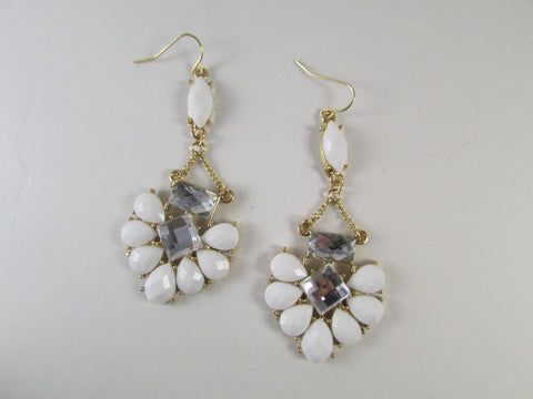 Sadie Earrings White