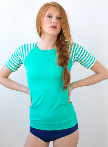 Short Sleeved SeaFoam Top