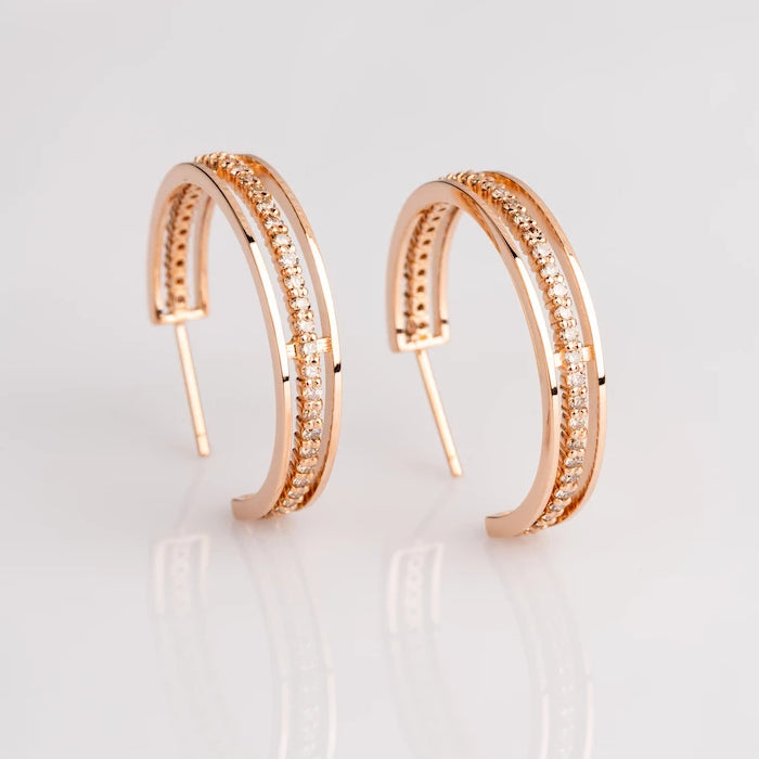 18k Rose Gold and Champagne Diamond