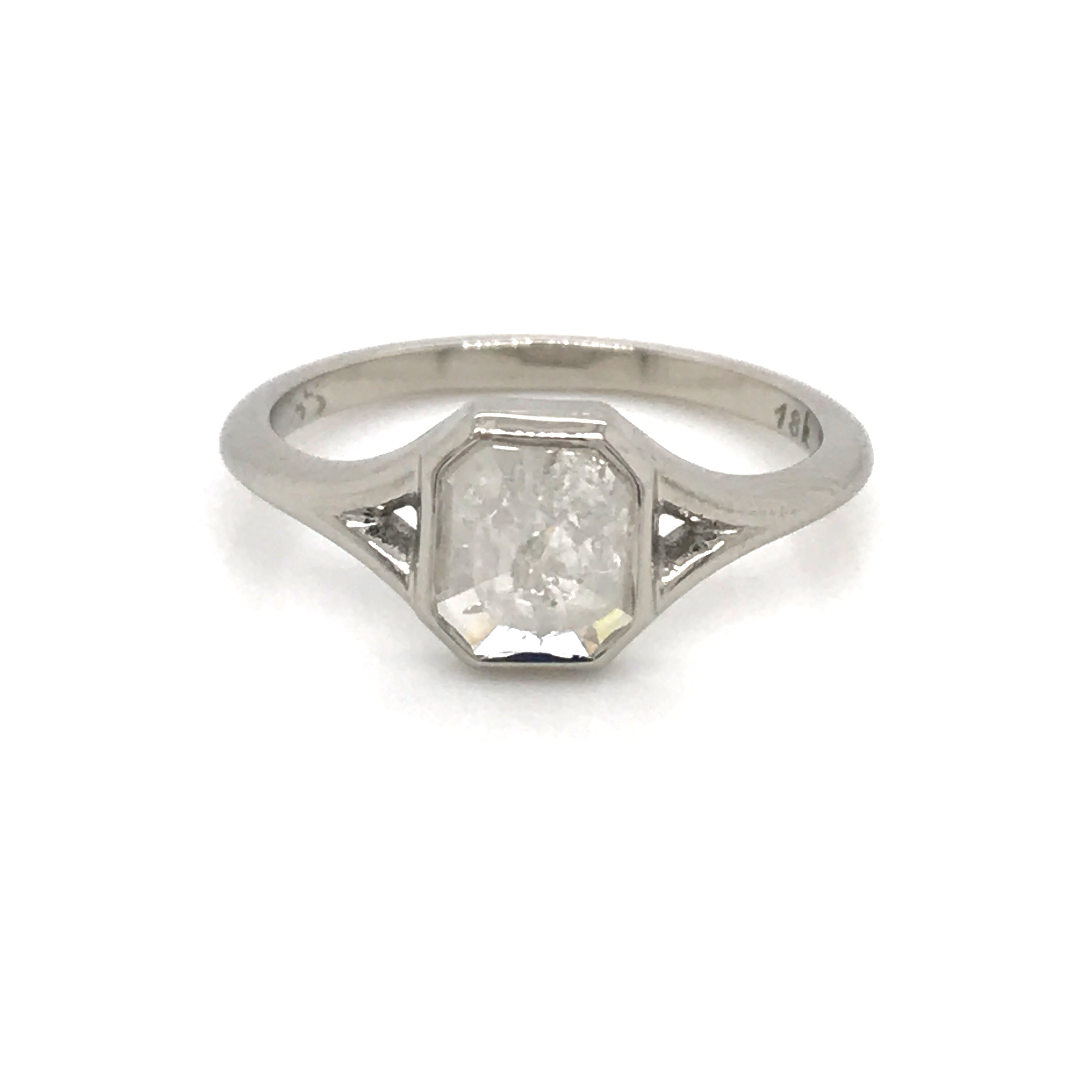 cushion cut grey diamond ring, sydney strong, Greenville south carolina