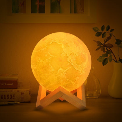 Rechargeable 3D Printed Moon Lamp