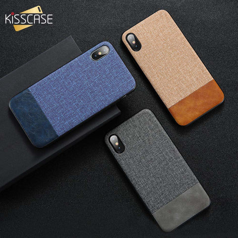 Retro Fabric Leather Phone Case for iPhone