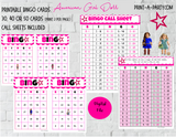 BINGO: American Girl Doll |  Parties | Birthday | Classroom | 30, 40, or 50 cards - INSTANT DOWNLOAD
