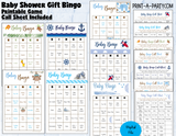 BINGO Baby Shower Gift Bingo Game - choose your theme and size