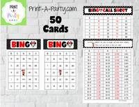 BINGO: Minnie - INSTANT DOWNLOAD - great for parties, birthdays, celebrations, classroom
