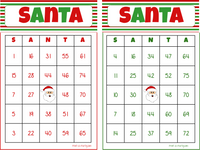 BINGO: Santa Bingo Game - 30, 40 or 50 different cards INSTANT DOWNLOAD - Holiday Bingo
