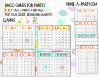 BINGO: Llamas | Classrooms | Parties | Birthday | 30, 40, or 50 cards - INSTANT DOWNLOAD
