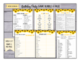 GAME BUNDLE: Birthday Party Game 6 Pack - INSTANT DOWNLOAD - Sunflowers - great for Tween/Teen parties