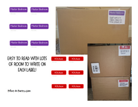 MOVING KIT: Color Coded Moving Box Labels (18) | Master List | INSTANT DOWNLOAD - Have an organized move!