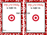 GIFT CARD Templates for Amazon, Apple, Target and Starbucks and more for Holiday  - INSTANT DOWNLOAD - Use each year!