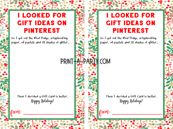 Teacher Gift Card Templates For Amazon Apple Target And