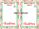 GIFT CARD Templates Holiday for any gift card - INSTANT DOWNLOAD - Use each year!