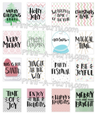 Planner Stickers: Holiday Quote Boxes - INSTANT DOWNLOAD