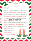 CHRISTMAS ELF LETTER KIT | Elf Letters (2) | Blank Note Cards | INSTANT DOWNLOAD