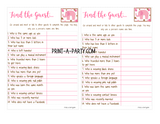 FIND THE GUEST Game for Baby Shower - INSTANT DOWNLOAD