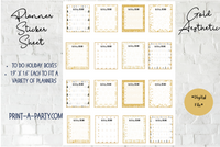 Planner Stickers: Holiday To Do Boxes in Gold Aesthetic - INSTANT DOWNLOAD