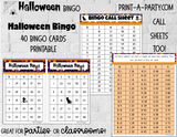 BINGO: Halloween Bingo | Ghost Bingo | Scare Bingo | Candy Bingo | Classrooms | Parties | Birthday | 30, 40, or 50 cards - INSTANT DOWNLOAD