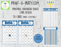 BINGO: Hanukkah | Classrooms | Parties | Holiday | 30, 40, or 50 cards - INSTANT DOWNLOAD