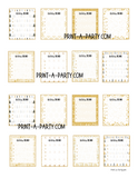 PLANNER STICKERS:  Christmas | Holiday | To Do Boxes | Gold Aesthetic | INSTANT DOWNLOAD Fits a variety of planners!