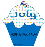 BACK TO SCHOOL: Birthday Bulletin Board Display for Classroom | Birthdays | Monthly Polka Dot Cupcake Birthday Bulletin Board Display