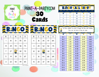 BINGO: Minions - INSTANT DOWNLOAD - great for parties, birthdays and classrooms