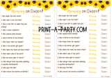 MOMMY OR DADDY? Game for Baby Showers - INSTANT DOWNLOAD
