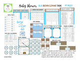 EVENT KIT Baby Shower Kit (Invite, Games, Meal Plan, Recipes, Labels and more) - Blue Elephant Theme (49 pages) INSTANT DOWNLOAD Printable