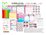 KIT: Birthday Party Kit (Games, Recipes, Meal Plan, Treat Labels and more) - Rainbow Candy Theme (36 pages) INSTANT DOWNLOAD Printable