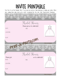 EVENT KIT Bridal Shower Kit (Invites, Games, Meal Plan, Recipes, Favor Tags and more) - Gray and Blush Pink Theme (47 pages) INSTANT DOWNLOAD Printable