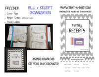 Receipt and Expense Organization Printable - FREE INSTANT DOWNLOAD!