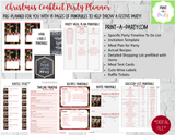 CHRISTMAS HOLIDAY COCKTAIL PARTY | Party Kit |18 pages | Meal Plan | Recipes | Lists