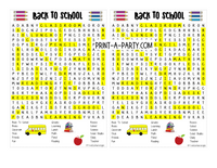 WORD SEARCH: Classroom | Teachers | 1st Day of School Theme