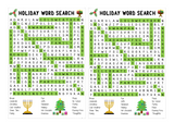 WORD SEARCH: Holiday Theme for classrooms, parties or holidays!