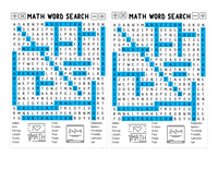 WORD SEARCH: Classrooms | Teachers | Math Theme