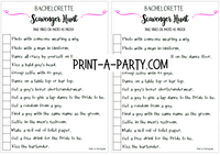 SCAVENGER HUNT GAME: Bachelorette Party - INSTANT DOWNLOAD