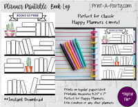 HAPPY PLANNER Books to Read Page | Planner Book Log | Classic Happy Planner Page Inserts