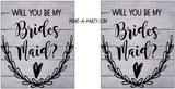 WINE LABELS: Wedding Bridesmaid Proposal Rustic Farmhouse - INSTANT DOWNLOAD - Choose your Wood Style