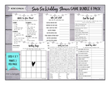 Same Sex Wedding Shower Game Bundle 6 Pack -INSTANT DOWNLOAD - Garland
