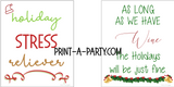 WINE LABELS: Christmas Sarcastic Holiday - Gifts, Wine Baskets - INSTANT DOWNLOAD
