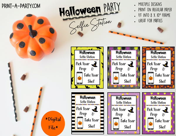 HALLOWEEN | Photo Booth Sign | Selfie Station Sign | Party Photo Booth | Instant Download