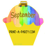 BACK TO SCHOOL: Birthday Bulletin Board Display for Classroom | Birthdays | Monthly Rainbow Cupcake Birthday Bulletin Board Display