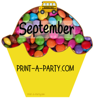 BACK TO SCHOOL: Birthday Bulletin Board Display for Classroom | Birthdays | Monthly Candy Sprinkle Cupcake Birthday Bulletin Board Display
