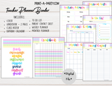PLANNER: Teacher Planner | Gradebook | Binder Pages | Pastel Design