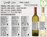 WINE LABELS: Sarcastic Meme Wine | Friends | Girlfriends | Girls Night Out | Sarcastic Funny (6)  Labels - INSTANT DOWNLOAD - Use again and again!