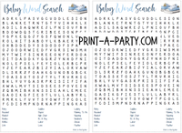 WORD SEARCH for Baby Showers - INSTANT DOWNLOAD