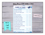 GAME BUNDLE 6 Pack for Baby Shower - INSTANT DOWNLOAD - Airplanes Theme